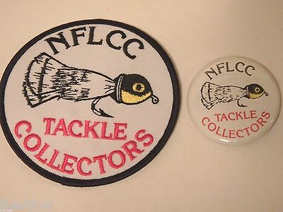 Vintage NFLCC Fishing Lures Old Fly Rod Popper Patch & Pin / Button