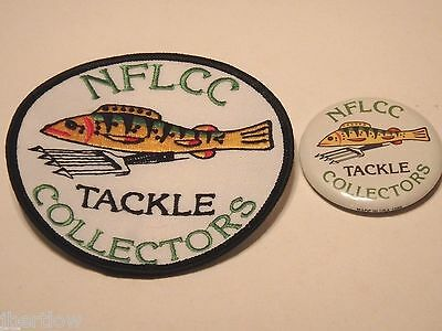 Vintage NFLCC Fishing Lures Fish Decoy Patch & Pin