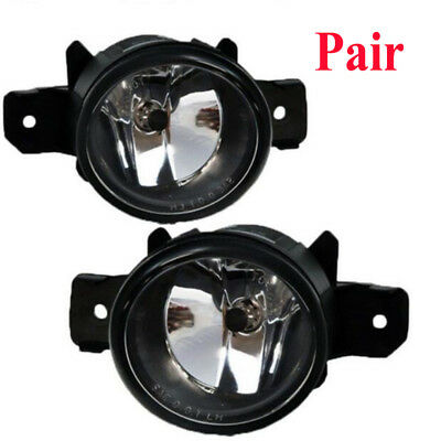 Left & Right Side Fog Lights Bumper Lamp Clear For 2010 Nissan Sentra Pair