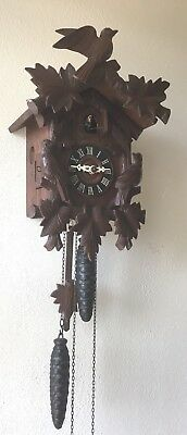 Part Working Antique Gula German Cuckoo Clock Jager Black Forest D86