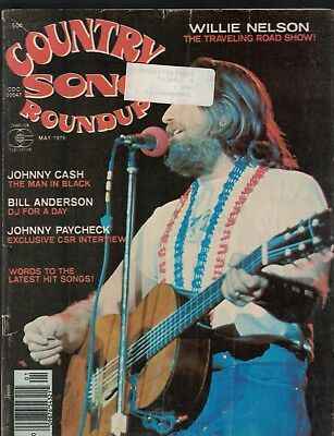 Country Song Roundup May 1976 Willie Nelson Johnny Cash Johnny Paycheck
