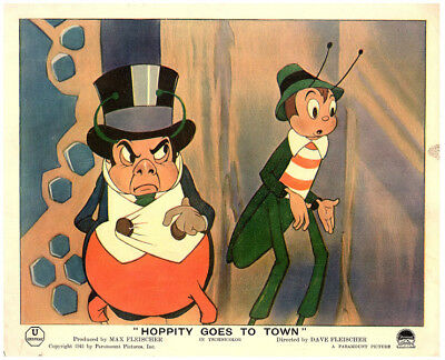 HOPPITY MR BUG GOES TO TOWN Original Lobby Card 1941 Animation MR Bumble