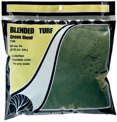 Woodland Scenics T49 Turf Fine Blended Grass Bag 30oz Train Scenery