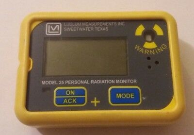 LUDLUM Model 25 Personal Radiation Monitor  Dosimeter  Pre-Owned
