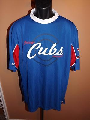 New Chicago Cubs Adult Mens Size L Large Blue Stitches Jersey