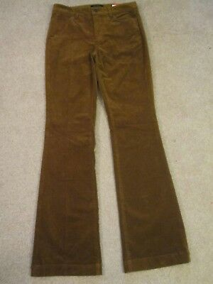 Nwt $90 Talbot's Brown Flawless Five Pocket  Flare Cord Jan Style Pants 2