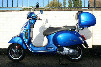 Vespa Gts 300 Super Abs Blue Scooter - Scorpion Exhaust System - Low Mileage