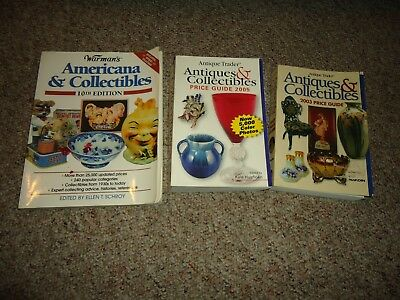 Warman's Americana & Collectibles 10th ED-2 Antique Traders Price Guides 03 & 05