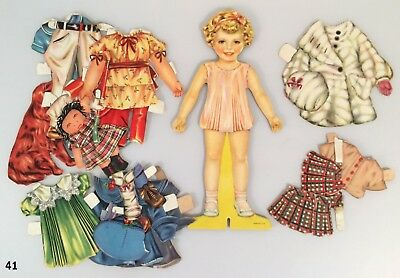 Vintage paper doll This is Dotty by Whitman 1939 clothes cut