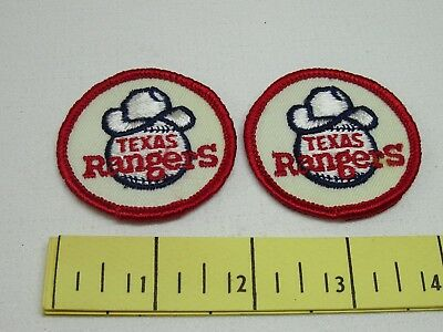 Texas Rangers Vintage Cloth Patches Two of 1970's Two Inch New Old Stock