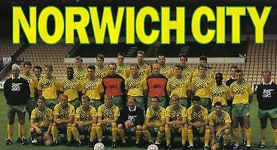 Norwich City Football Team Photo>1991-92 Season