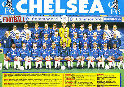 Chelsea Football Team Photo>1992-93 Season