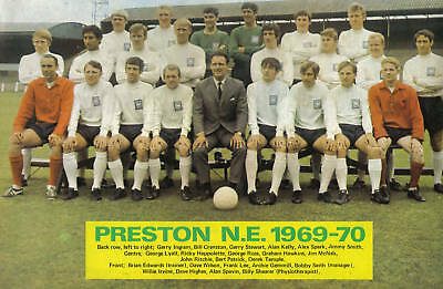 Preston North End Football Team Photo>1969-70 Season