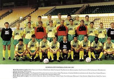 Norwich City Football Team Photo>1989-90 Season