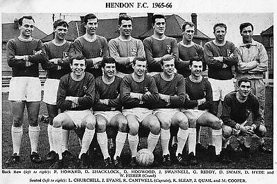 Hendon Football Team Photo 1965-66 Season