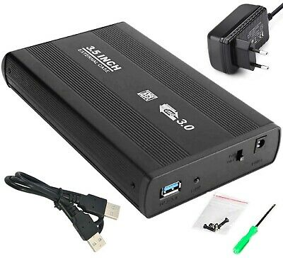 "Box HD case esterno slim USB 3.0 per Hard Disk PC SATA hdd disco 3.5"" portatile"