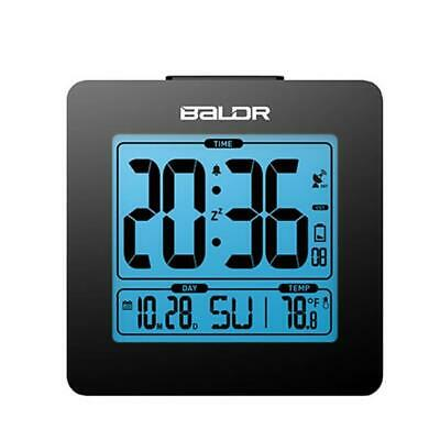 Baldr CL0114WH1 Atomic Alarm Clock with Time Calendar Function White