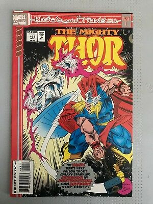 The Mighty Thor #468 November 1993 Blood and Thunder Marvel Free U.S. Shipping
