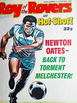 Roy of the Rovers 25/02/89 old football all usual storys + spurs, sheffeild wed