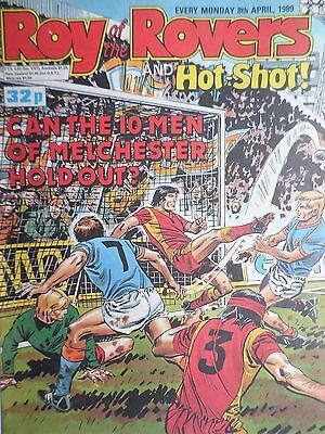 Roy of the Rovers 08/04/89 old football all usual storys + arsenal, gary lineker