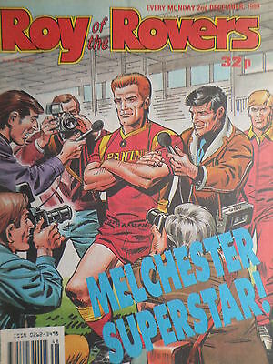 Roy of the Rovers 02/12/89 old football all usual storys + gary with spurs etc