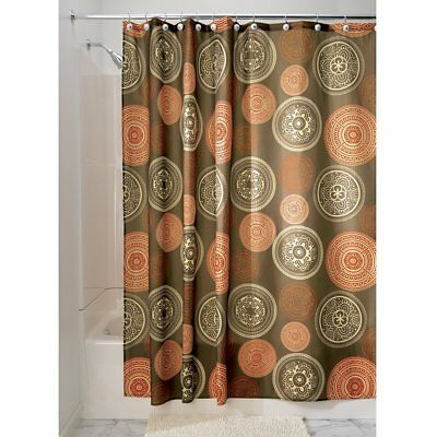 Bazaar Fabric Shower Curtain, Shower Screen with Bold Pattern Design, Polyester,