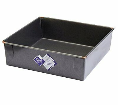 Square Deep Cake Tin, Traditional 10 Inch, With Glidex Tm Non-stick ® Tm, Han