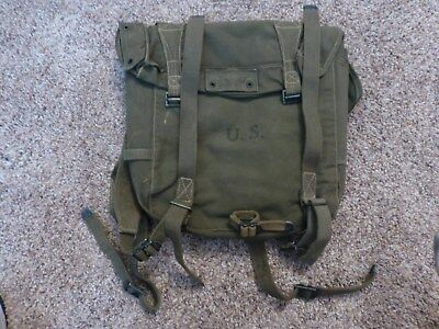 Original Used U.S. Military WWII M1945 Combat Field Pack, 1945 Dated