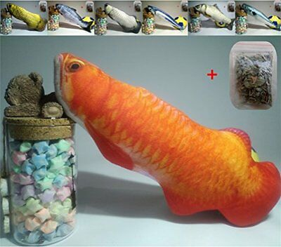 Cats Toys Fish Catnip Cat Plush Toy Realistic Simulation Cat Mint Toys 30, Red S