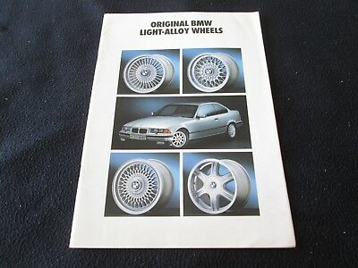 1993 BMW Rare Alloy Wheels Brochure E30 E36 325i E34 535i 540i E31 850i Catalog