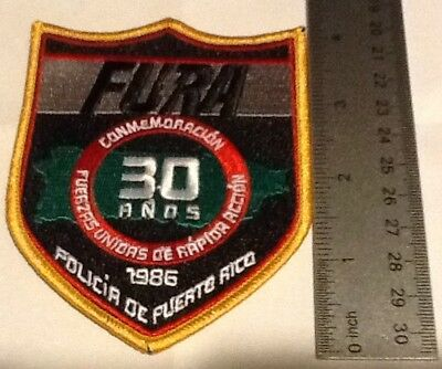 Puerto Rico State Police FURA 30 Years Commemorative  Patch