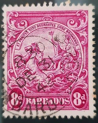 Barbados 1946 Sc # 199a Red Violet 8d Used NH Stamp Lot #2