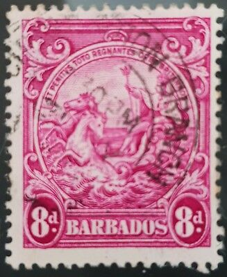 Barbados 1946 Sc # 199a Red Violet 8d Used NH Stamp Lot #4