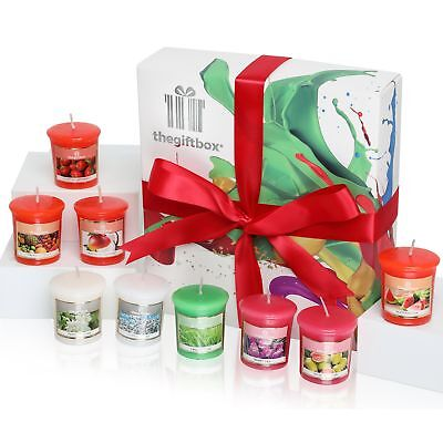 A Luxurious Scented Candle Gift Set by The Gift Box Containing 9 Individual Beau