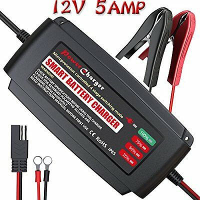 Lst 12v 5amp Battery Charger Maintainer Smart Auto Trickle Float Deep Cycle Char