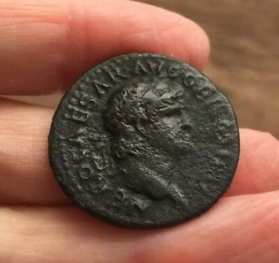 Roman. Nero (54-68 Ad). Copper Coin (Ae As). Reverse. Victory Flying Left.