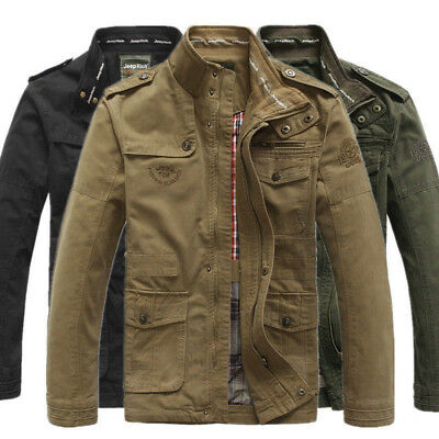 New Jeep Rich Men's Outdoor Autumn Cotton Blend Zipper Warm Coat Jacket Outwear