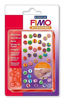 Fimo Accessories 8725 07 Push Moulds 40 Motifs Letters A to Z and Numbers 0 to 9