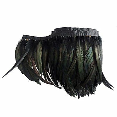 1 Meter 40   length Of Black Feather Boa Diy As Wrap Cape Shawl Poncho Skirt Sto