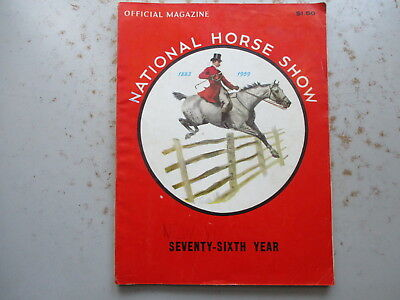 76th Annual NATIONAL Horse Show & Program for 1959