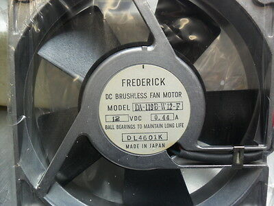 FREDERICK DA-119B-W12-F DC BRUSHLESS FAN MOTOR - 12 VDC 0.44A 120mm x 120mm