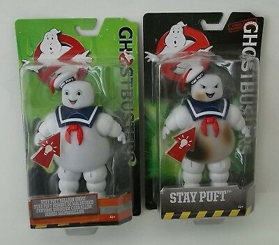 Lot of 2 Ghostbusters Classics Stay Puft Marshmallow Man Burned Burnt & Happy