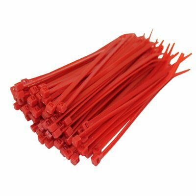 500 X Red Cable Ties 100Mm X 2.5Mm Zip Tie Wraps Bases All Sizes Stocked