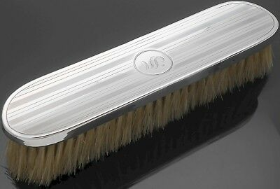 Initial 's' - Sterling Silver Clothes Brush - Birmingham 1915 - Antique