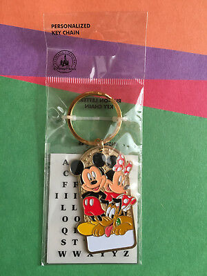 DISNEY - Disneyland Mickey and Minnie Personalized Name Keychain