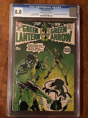 Green Lantern #76 CGC 8.0 Graded Comic (OW-W pages) GL/Green Arrow stories begin