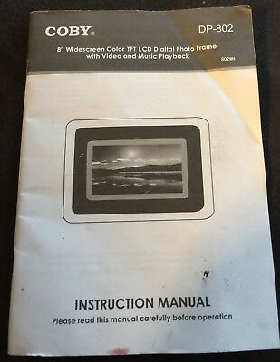 "Coby 8"" Digital Photo Frame DP-802 ***INSTRUCTION MANUAL ONLY***"