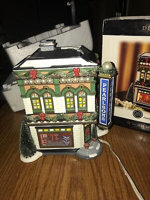 Department 56 Snow Village Pearlson'S Jewelry Lighted House 30Th Anniversary
