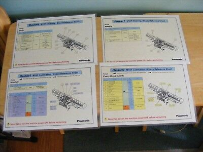 Panasonic PANASERT MVIIF DAILY WEEKLY MONTHLY & QUARTERLY MAINTENANCE SHEETS