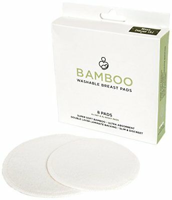 Washable Reusable Breastfeeding Pads In Supersoft Bamboo Material pack Of 8